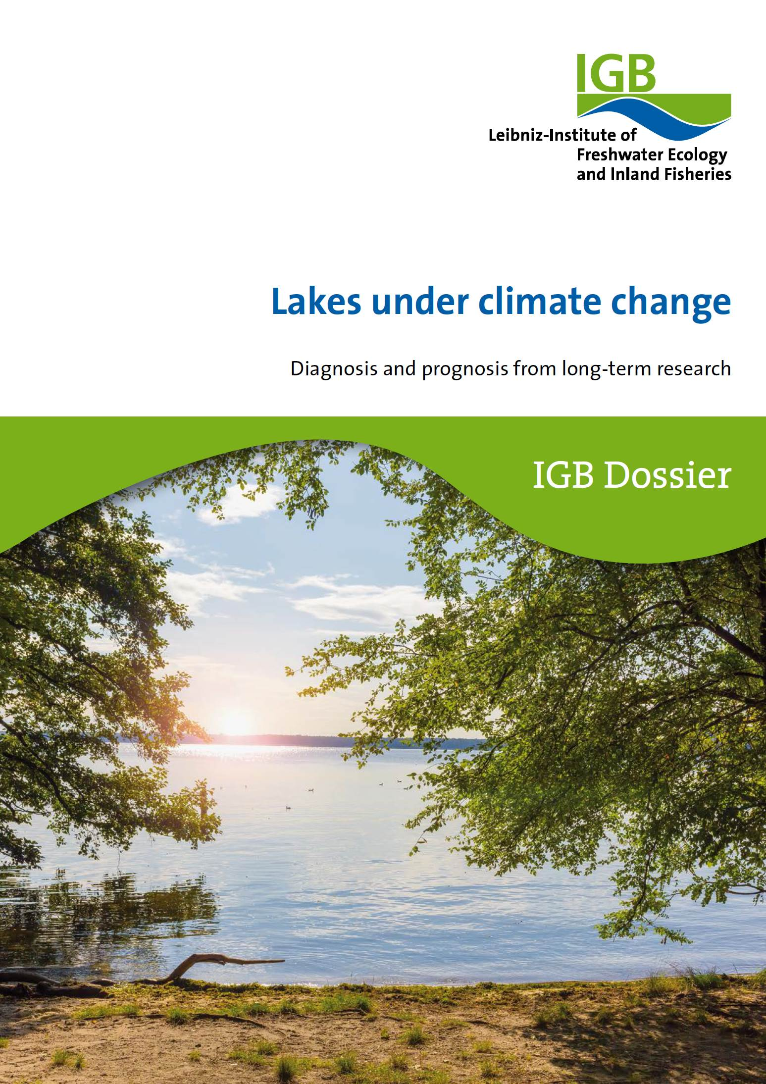 Cover of the dossier on lakes under climate change.
