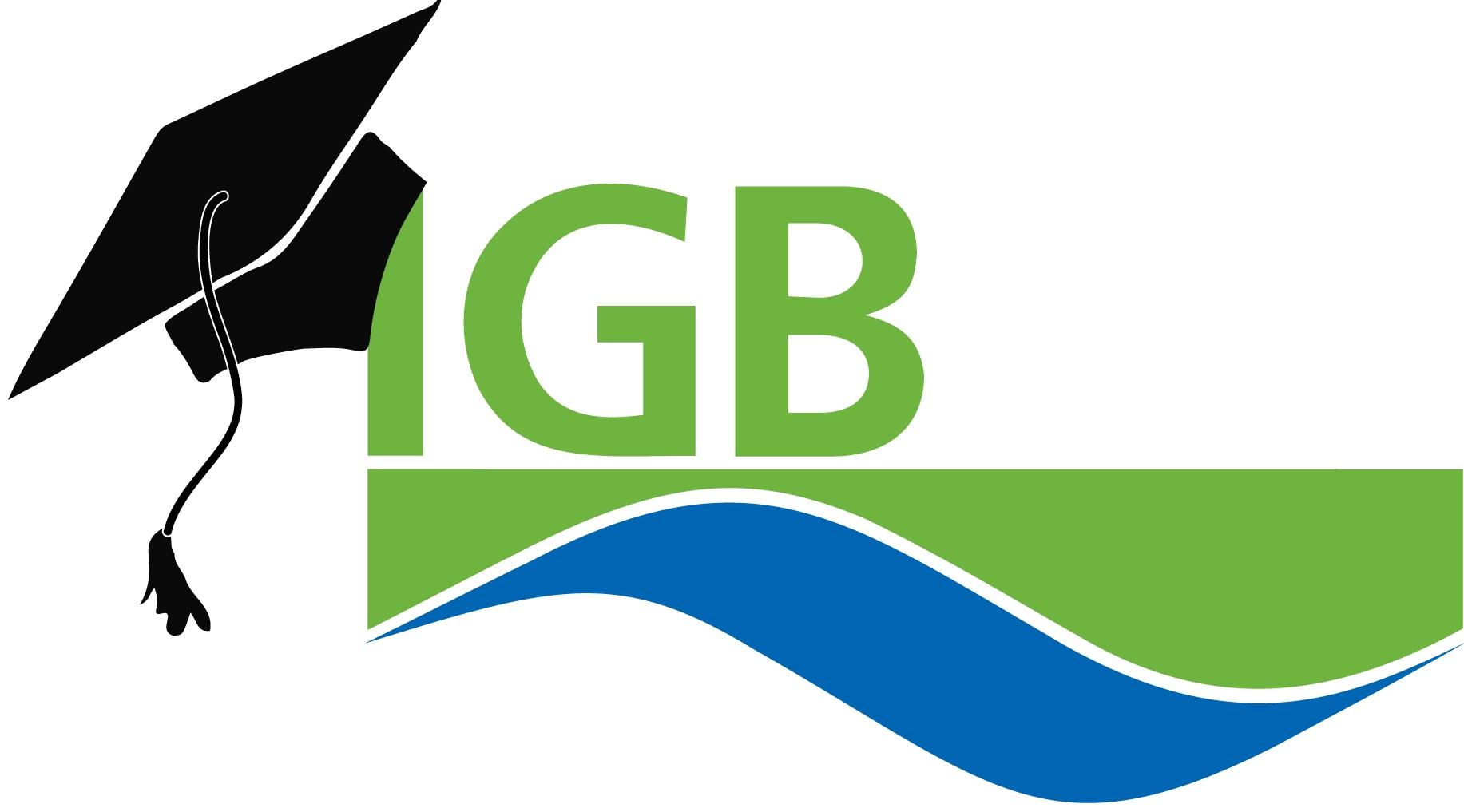 IGB-Logo mit Doktorandenhut