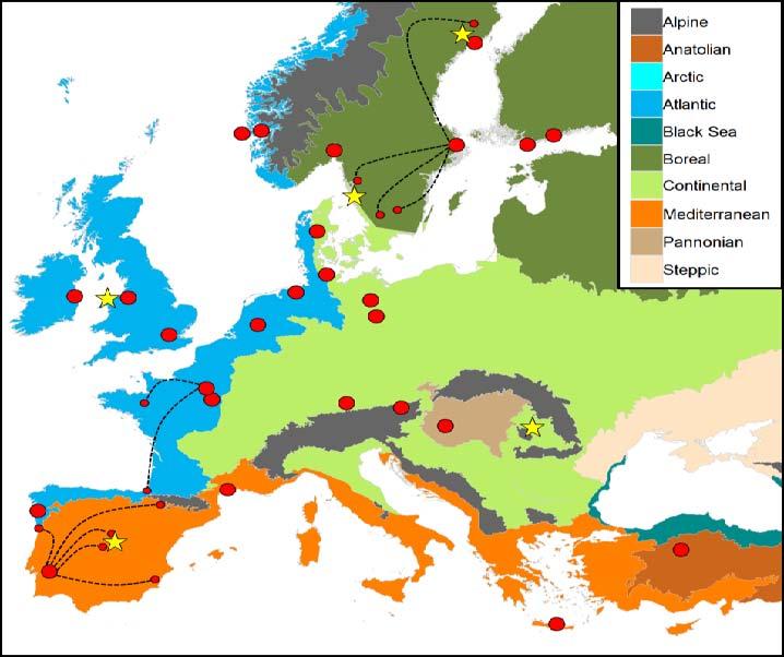 Partners in European Ecoregions